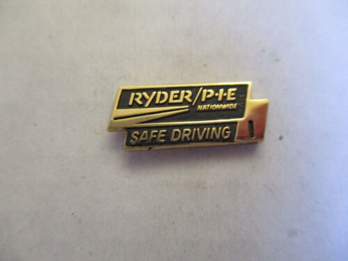 Ryder PIE 1yr Trucking Truck Driver Employee Safety Award Pin