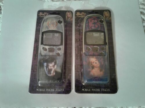 Vintage 2000 Buffy The Vampire Slayer Cell Phone Case Lot Of 2 Buffy Angel