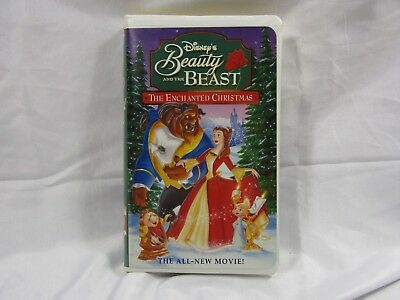 Disney Beautyand the Beast Enchanted Christmas VHS Home Video Family Gift Easter