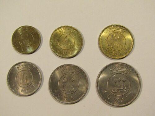 Kuwait 1962 6 unc Coin Set/Lot 1,5,10,20,50,100 Fils
