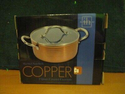 Home Inspired Marbled non-stick Cooper 2 Quart Covered Casserole Non Stick Covered Casserole