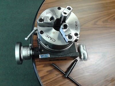 8 Horizontal Vertical Rotary Table 3-slot W. 8 3-jaw Chuck Front Mounting