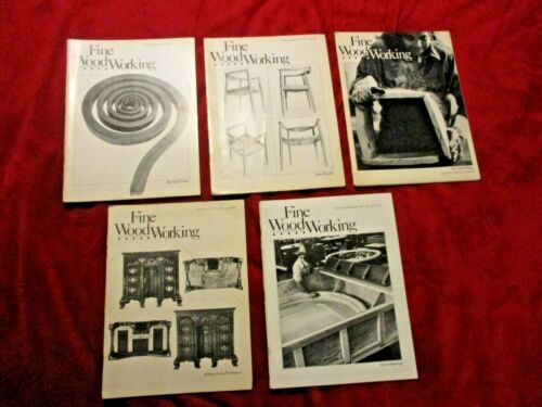 Vintage Lot of Five Fine Woodworking Books/Magazines 1980