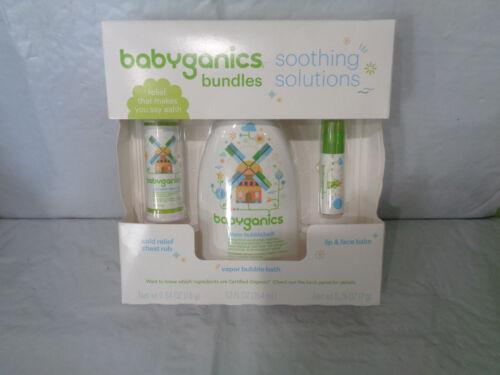 Babyganics Bundles Gift Set -Soothing Solutions  Vapor Bath - Cold Relief - Balm