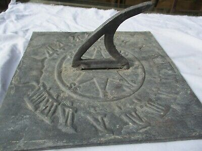 Vintage Architectural - Thick Lead Sundial - Roman Icons Heavy and Nice Patina