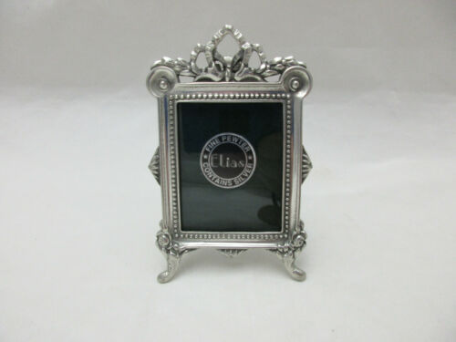 Vintage Elias Sterling Pewter Mini Photo Frame #1668 Made in USA