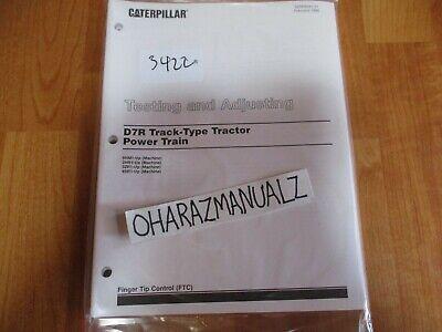 Caterpillar D7r Track Type Tractor Power Train Testing Adjusting Manual