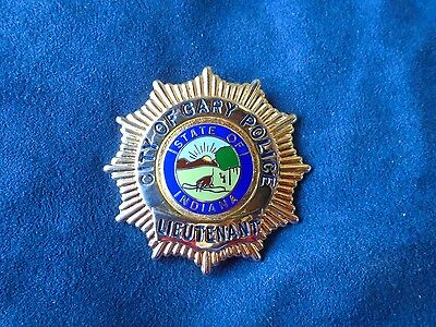 Vintage Antique Gary, IN Police Lieutenant Badge Obsolete Rare Indiana