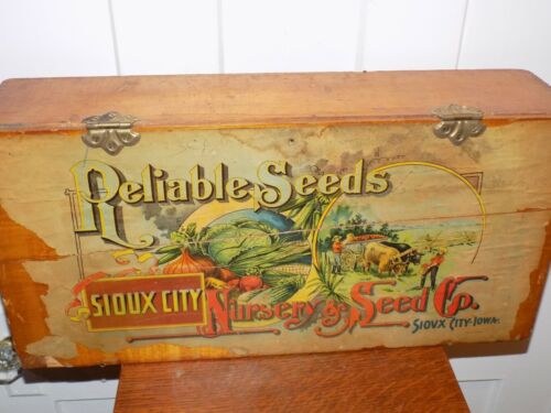 Vintage Reliable Seeds Sioux City Nursey & Seed Co. Sioux City Iowa Box