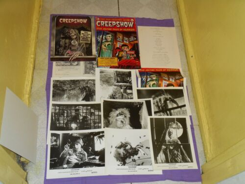 original CREEPSHOW PRESS KIT w/ 8 photos &extra cover Stephen King George Romero