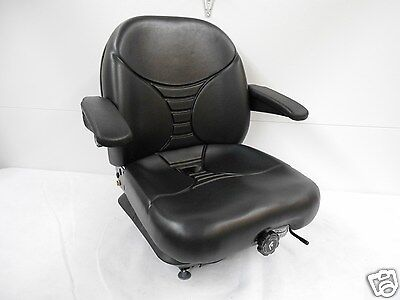 MICHIGAN BLACK SEAT, MILSCO V5300 HIGH BACK SUSPENSION SEAT W/LUMBAR #15980 #HE