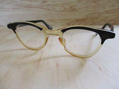 B KRAUSS true vintage black clear cat eye eyeglasses frames