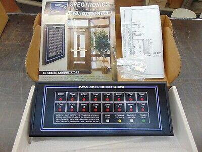 Spectronics Bl-16 Fire Alarm Zone Directory