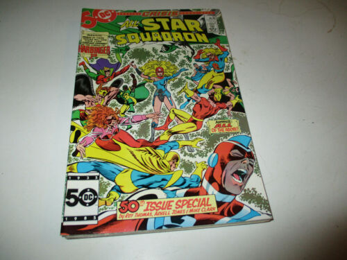 All Star Squadron # 50--Crisis of Infinite Earths tie in--Roy Thomas--1985--VF
