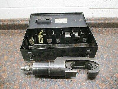 Burndy Y46 Hypress Remote Hydraulic Crimper Crimping Tool W 2 Die Sets Case