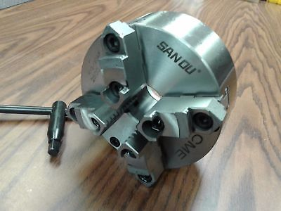 6 4-jaw Self-centering Lathe Chuck W. Topbottom Jaws--0.003 Tir---new