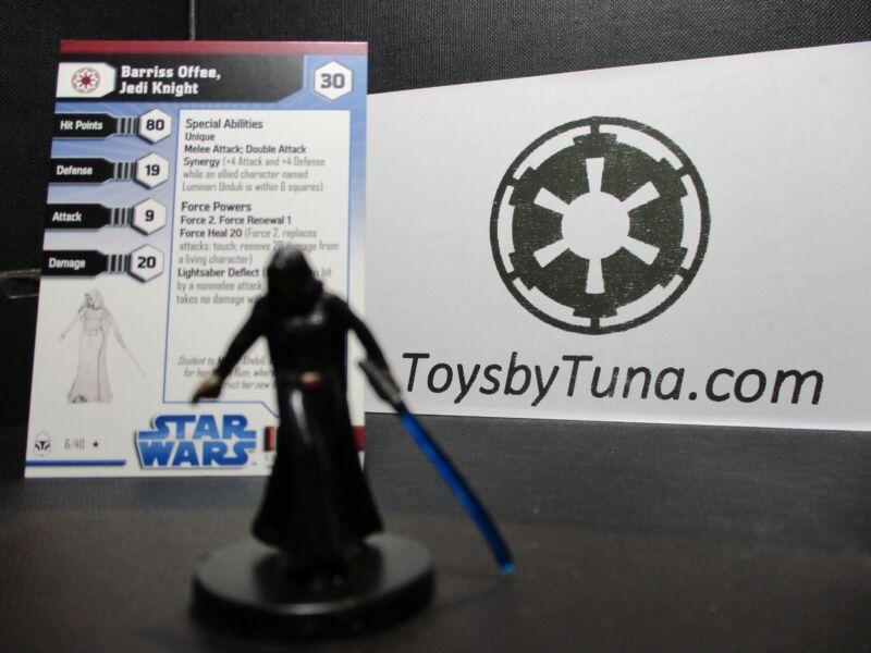 Star Wars Miniatures Barriss Offee, Jedi Knight Clone Wars CW w/ Card mini RPG
