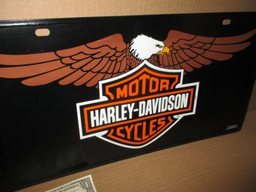 HARLEY-DAVIDSON MOTORCYCLES -- Big Embossed -- TIN SIGN -- ORIGINAL -- Dated