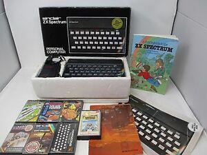 SINCLAIR ZX SPECTRUM personal computer 48K Ram Boxed plus games x 7 & Booklet *