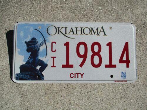 Oklahoma City license plate #  19814