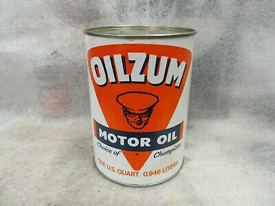 Early Original Oilzum Motor Oil Quart Can Early Full