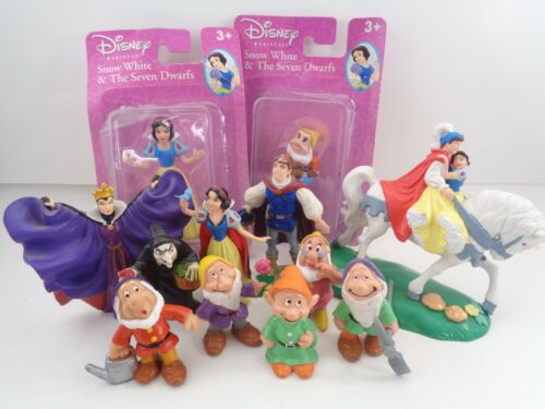 Large lot of 12 Disney Snow White and the Seven Dwarf Figures Bullyland 1982