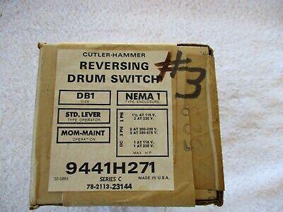 Nib Cutler Hammer Reversing Drum Switch 9441h271