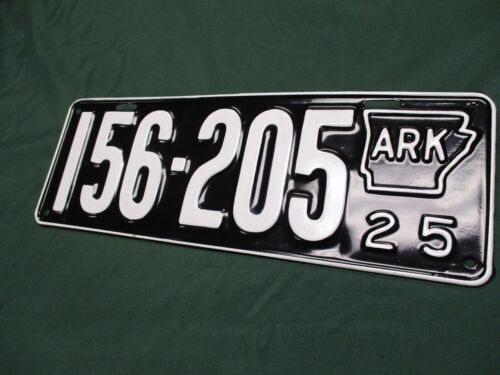 A+  1925 ARKANSAS STATE SHAPE LICENSE PLATE QUALITY REPAINT