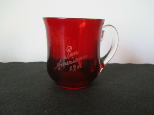 1901 Souvenir EAPG Ruby Flash Glass Pan American Exposition Buffalo New York