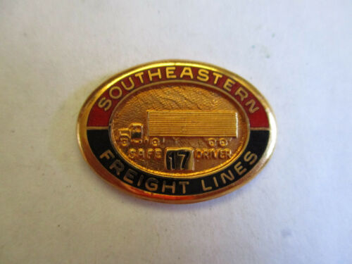 Southeastern Freight Lines 17yr Trucking Truck Driver Employee Safety Award Pin