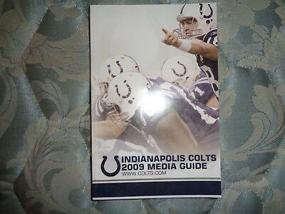2009 Indianapolis Colts Media Guide Yearbook Super Bowl Team Peyton Manning Ad