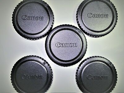 5 X CANON BODY CAPS for CANON CAMERAS-BEST Quality CAPS-FAST FREE