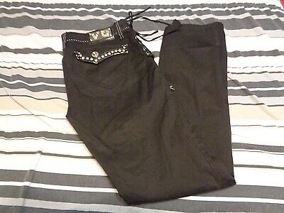 Rock N Roll Jeans-hose (VO Jeans Virgin Only BLACK ROCK N ROLL GOTH Pant Size 11)