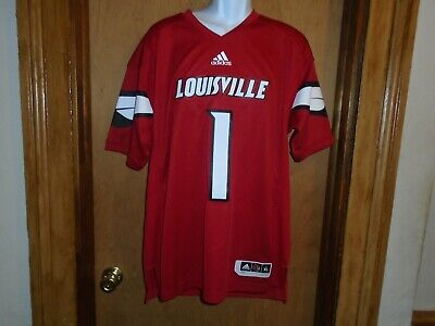 Louisville Cardinals Men's Adidas Red Replica Football Jersey #1 XL NWT