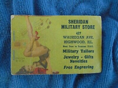WWII home front notepad with pin up Highwood, Il