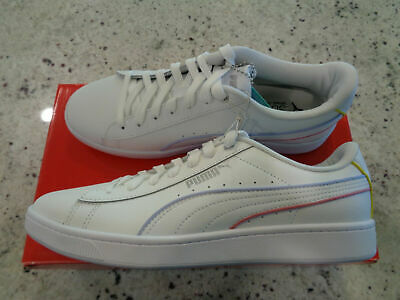 PUMA Womens Soft Foam Sneakers Shoes White 374512-03 Trainers Low Top-Size 7