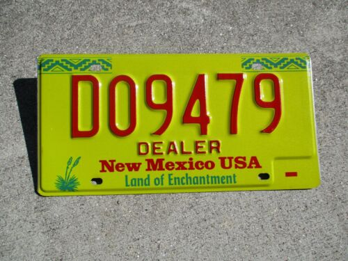 New Mexico Dealer license plate #   D09479