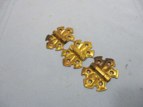 Set of 3 Antique Butterfly Hinges - Open/Close Easily