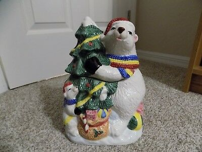 Vintage The Season Collection, Ceramic Bear Cookie Jar