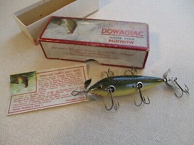 Gem Quality Early Fat Body Heddon 5 Hk Minnow in Correct Box With Paper