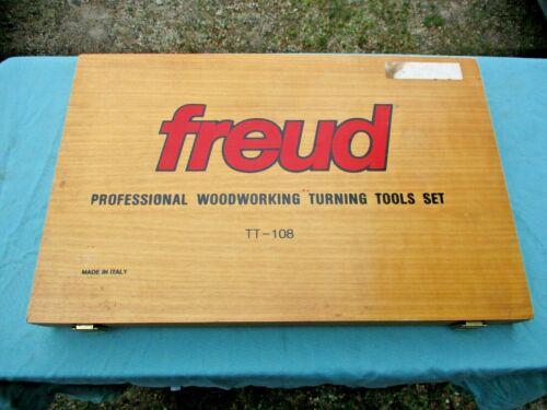 SET OF 8 FREUD TT-108 PROFESSIONAL WOODWORKING TURNING TOOL SET - IOB