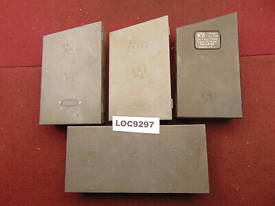 Huot Drill Index Boxes 116 To 12 Lot Of 4 37 Drills Loc9297