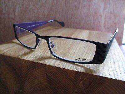 Iyoko Inyake IY709 3.5 micron black metal modern eyeglasses frames new