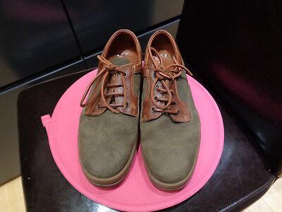 Clarks Herren Leder Schuhe Größe 44 Braun Top
