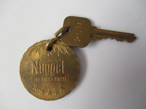 vintage Nugget Reno Nevada Casino Hotel Room Key Fob Tag
