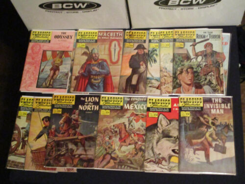 Classics Illustrated collection 17 issues VG- 1967-1971(14), 1990-1991(3)