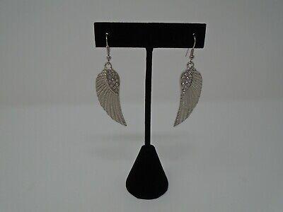 Angel Wings with Rhinestones Pierced Earrings