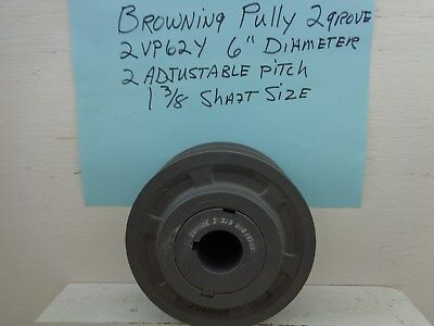 Browning Sheave Adjustable Pulley 2vp62 X 1-38 6 Od