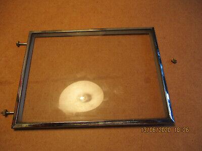 Vintage British Made Bentima Mantel Clock Square Convex Door Glass