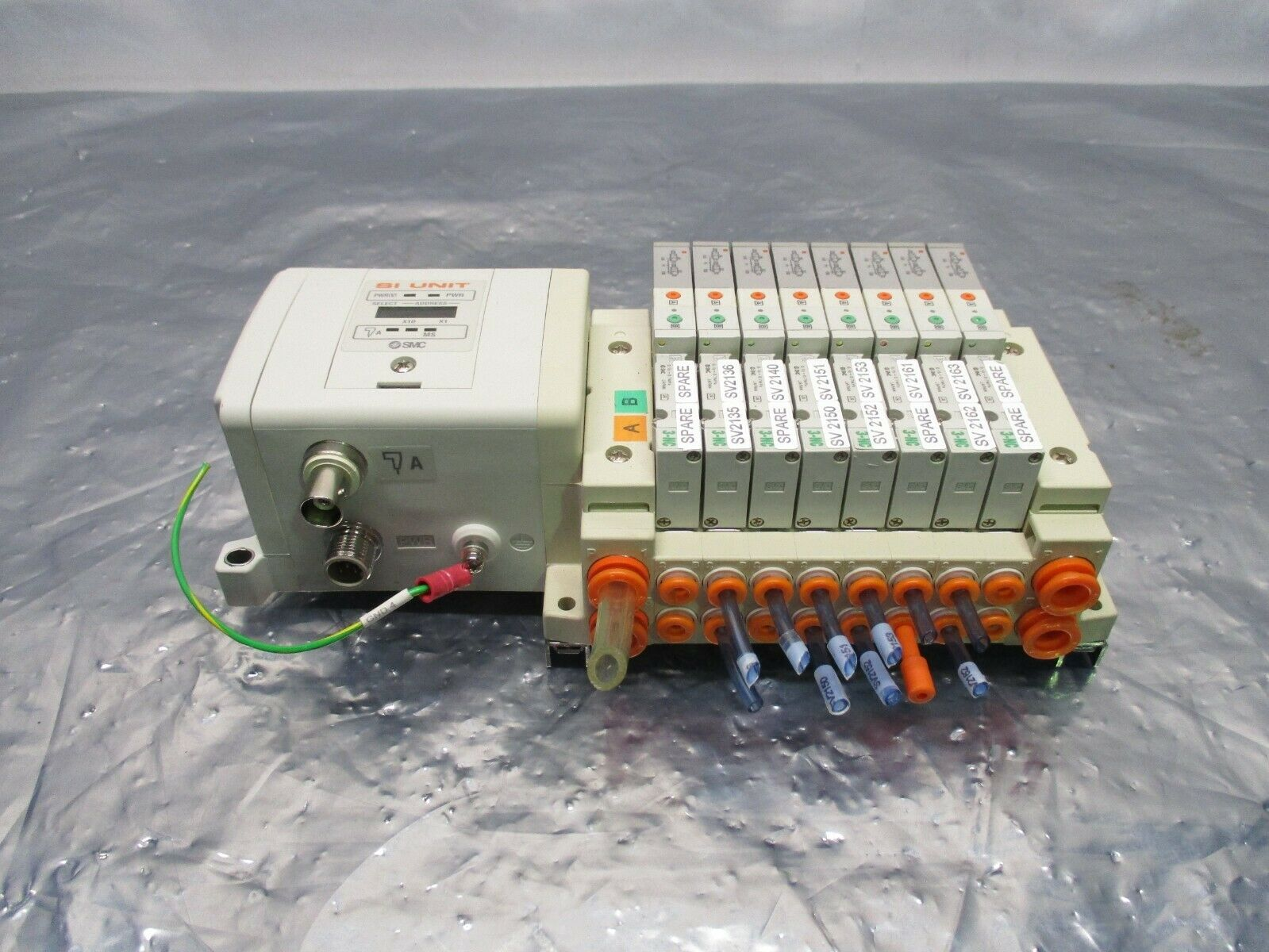 SMC SS5V1-GCJ09 8 Valve Manifold Assy w/ EX250-SCN1 Serial Interface Unit,100873
